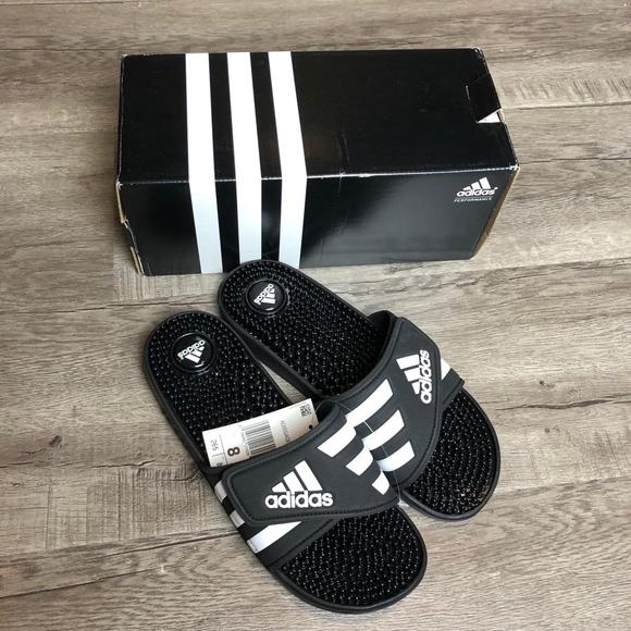 8ccb2f5b54f9 adidas ADISSAGE Womens 3 Stripes Slides
